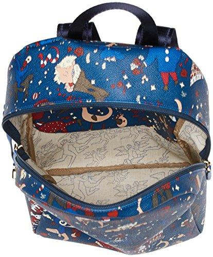 piero guidi 215174038, Borsa a Zainetto Donna, 24x31,5x12,5 cm Blu (Bluette)