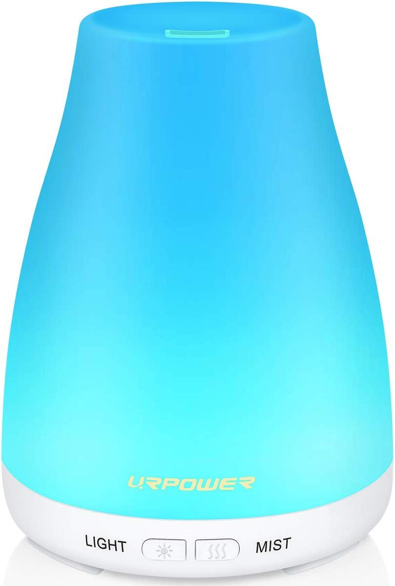 URPOWER 2ème version diffuseur d'huiles essentielles, 100Ml parfum huile essentielle brume fraîche