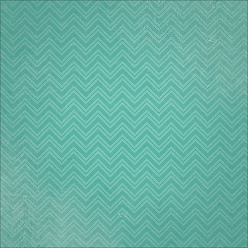 Paper House Productions P-0735E Chevrons Paper, 12 by 12-Inch, Teal (25-Pack) -