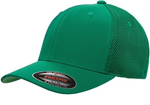Premium Original Blank Flexfit Ultrafibre Mesh Fitted Hat Cap Flex Fit 6533 Large / Xlarge - Green