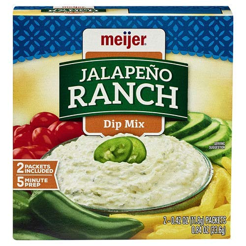 Meijer Jalapeno Ranch Dip Mix 2 Packets Included 5 Minute Prep