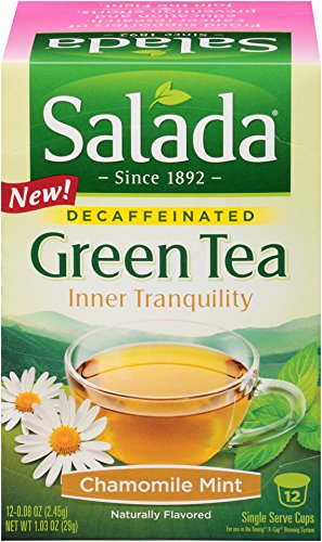 Salada® Inner Tranquility Chamomile Mint Decaffeinated Green Tea Single Serve