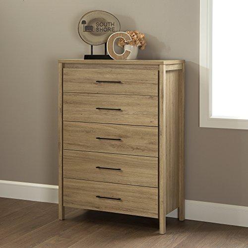 South Shore - Gravity 5-drawer Chest - Rustic Oak