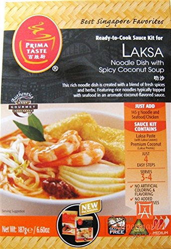 Prima Taste Laksa Kit, 6.6-Ounce Boxes (Pack of 3)