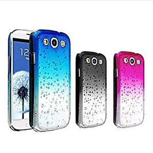GOG-ships in 48 hours Waterdrop Gradient Color Transparent Hard Case for Samsung Galaxy S3 I9300(Assorted Colors)