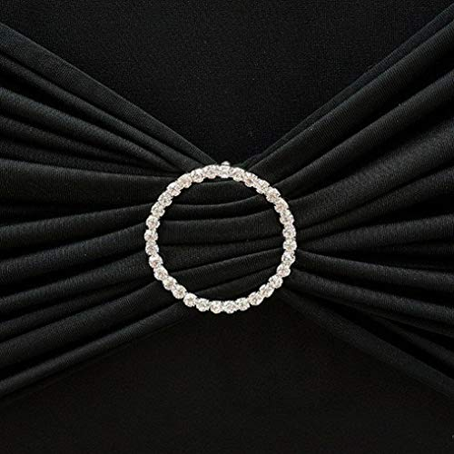 Mikash Circle Rhinestones Buckles for Chair Sashes Wedding Party Decorations Catering   Model WDDNGDCRTN - 11894   25 Pieces