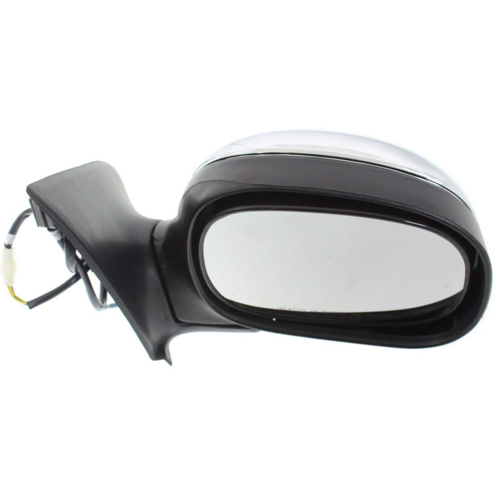Power Mirror compatible with Ford F-Series 97-04 Right and Left Side Manual Folding Non-Heated Regular//Supercab Only Chrome
