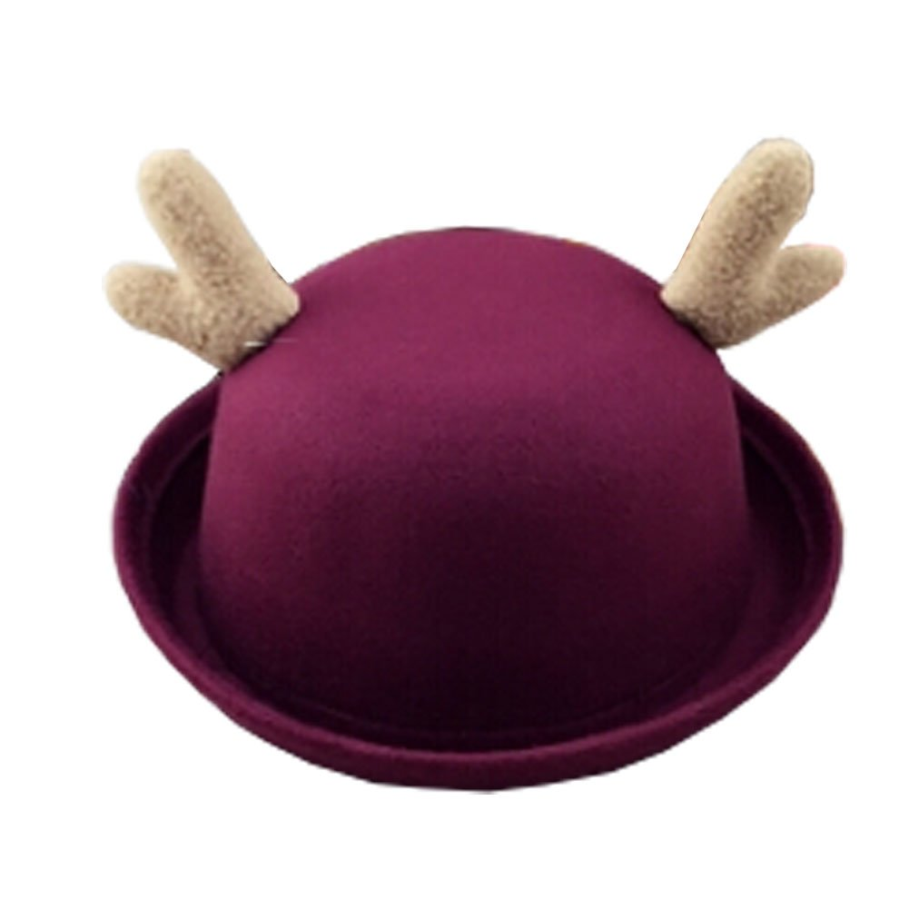 Cute Caps Felt Hats wine red Personalized Hats Boys Girls Kids