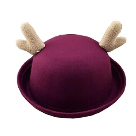 Gorras lindas fieltro sombreros rojo vino personalizados sombreros chicos niñas niños