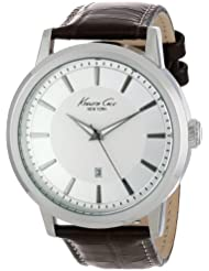 Kenneth Cole New York Mens KC1952 Modern Core Stainless Steel Watch with Brown Leather Strap