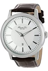 "Kenneth Cole New York Men's KC1952 ""Modern Core"" Stainless Steel Watch with Brown Leather Strap"