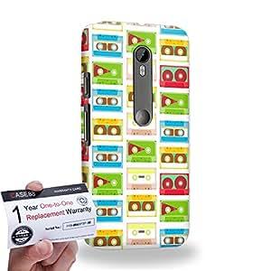 Case88 [Motorola Moto G (3rd gen)] 3D impresa Carcasa/Funda dura para & Tarjeta de garantía - Art Fashion Compact Cassette Compact Cassette A