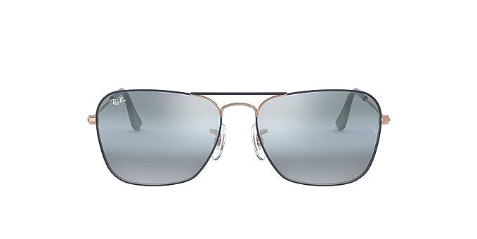 Ray-Ban 0RB3136 Gafas de sol, Copper On Top Mt Dk Blue, 54 para ...