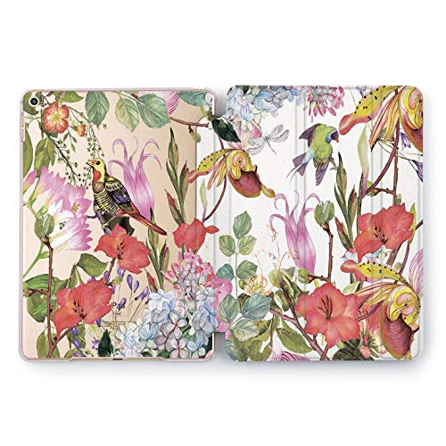 Wonder Wild Floral Birds iPad Mini 1 2 3 4 Air 2 Pro 10.5 12.9 Tablet 2018 2017 9.7 inch Flyers Shell Smart Stand Tropical Summer Flower Pretty Sweet Beautiful Tulips Rose Print Leaves Clear Design -