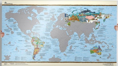 Scratch Edition Bucket List World Map