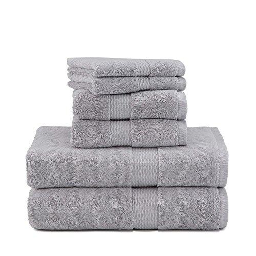 Under The Canopy Organic Cotton 6 Towel  6 Piece Set  Chrome