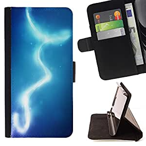 For Samsung Galaxy A3 Lights Blue Water Sky Beautiful Print Wallet Leather Case Cover With Credit Card Slots And Stand Function