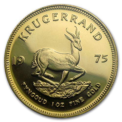 1975 ZA South Africa 1 oz Proof Gold Krugerrand 1 OZ About Uncirculated ()