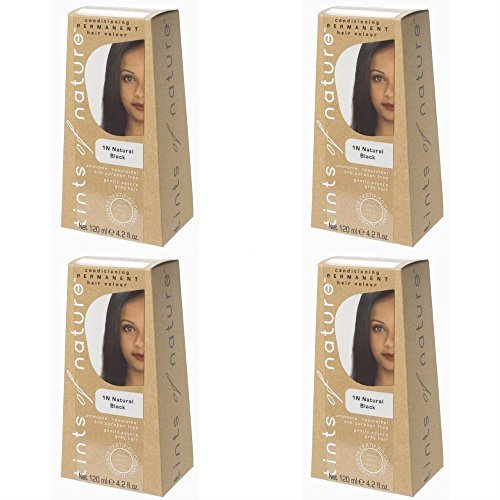 (4 PACK) - Tints of Nature - Natural Black | 120ml | 4 PACK BUNDLE by TINTS OF NATURE PERMANENT HAIR by TINTS OF NATURE PERMANENT HAIR