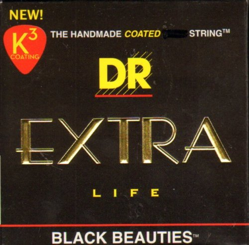 DR Strings BKE-10 Black Beauties K3 Coated Medium Electric G