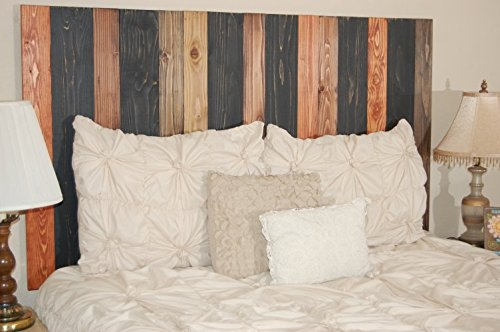 Cabin Mix Design - California King Size Hanger Headboard. Mounts on Wall. Easy Installation.