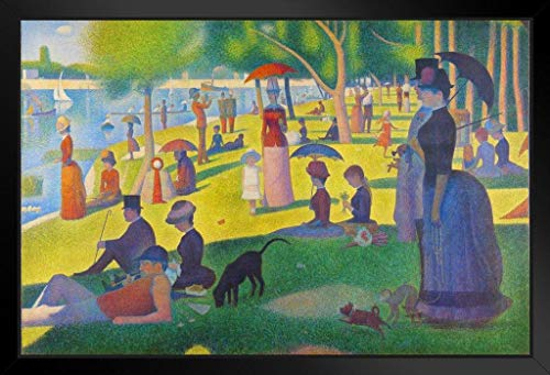 - Georges Seurat Sunday Afternoon On Island of La Grande Jatte Art Print Framed Poster 20x14 inch