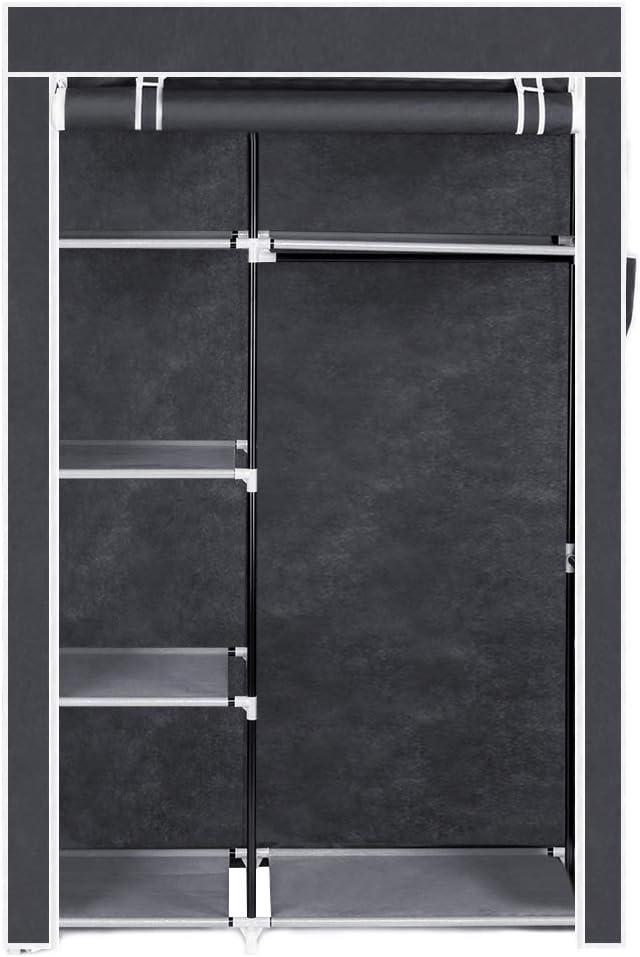 Quner 64 - Organizador portátil para Armario con estantes (64 Unidades), Color Gris: Amazon.es: Hogar