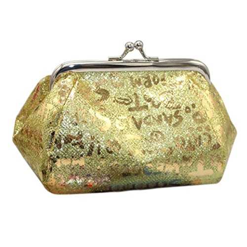 Clearance Gold TOOPOOT Deals Women Wallet Coin Coin Reflector Purse Bag Laser Lady Bag nxInSr