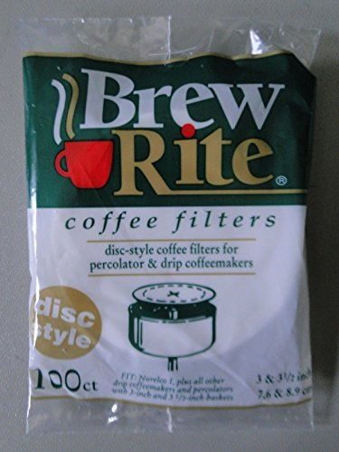 BREW RITE 100ct coffee filters DISC STYLE percolator - made in USA (3) by BREW RITE coffee filters
