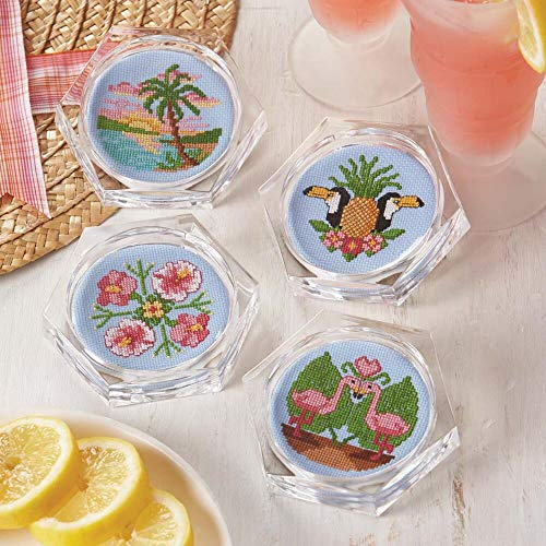 Herrschners® Tropical Retreat Coasters Counted Cross-Stitch Kit (Tropical Retreat)