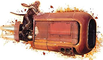 Amazon Com 9 Inch Rey Land Speeder Landspeeder Resistance Star Wars Episode Vii 7 The Force Awakens Removable Wall Decal Sticker Art Home Decor Kids Room 9 Inches Wide By 4 3 4 Inches Tall Home Improvement