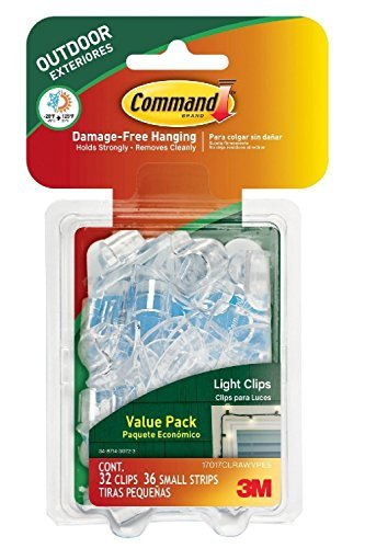 Command Outdoor Light Clips with 32-Clips and 36-Strips (2 Pack) by Command