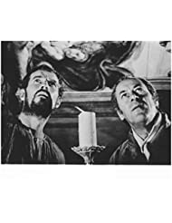 Charlton Heston 8 inch by 10 inch PHOTOGRAPH Planet of the Apes The Ten Commandments Ben-Hur B&W Pic w/Rex Harrison Looking Up kn
