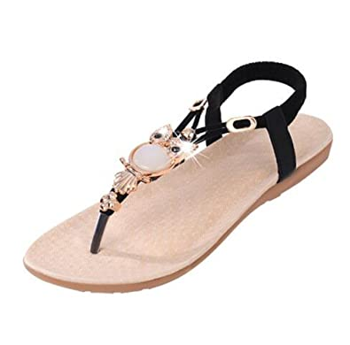 96e6211c7d1589 cnWay Bohemian flat sandals Roman sandals flip belt Woman Beaded Ladies  Summer Sandals Flats Slippers Wedges Sandal Girl Women New sandals Women s  Shoes ...