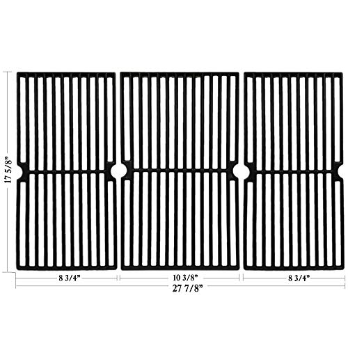 - Hisencn Cast Iron Cooking Grid Grate Replacement for Brinkmann Pro Series 8300, 810-1415-F, 810-7231-W, 810-8300-W, 810-9400-0, Grill King 810-9325-0 Gas Grill Models, Set of 3 Grill Cooking Grids