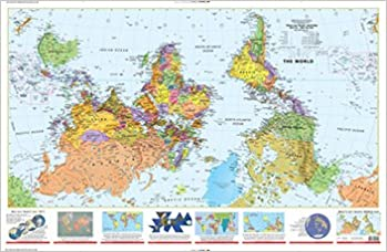 What's Up? South! 36x56 inch; laminated map: ODTmaps.com, Lovell