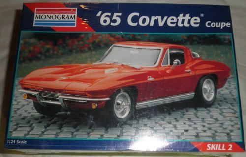 Monogram 2925 1965 Corvette Coupe 1:24 Scale Plastic Model Kit - Requires - Coupe 24 Corvette Scale