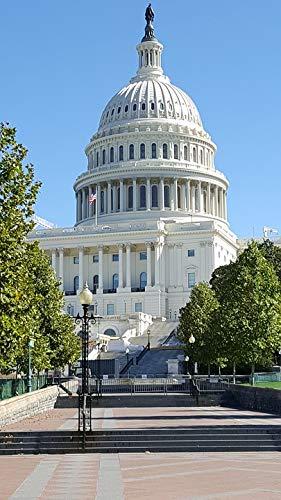 Home Comforts Canvas Print USA Building Washington Dc Capital Vivid Imagery Stretched Canvas 32 x 24