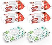 Huggies Toallitas Húmedas, Cuidado Hidratante y Cuidado Natural, Caja con 560 piezas (4 Paquetes de 100 c/u y