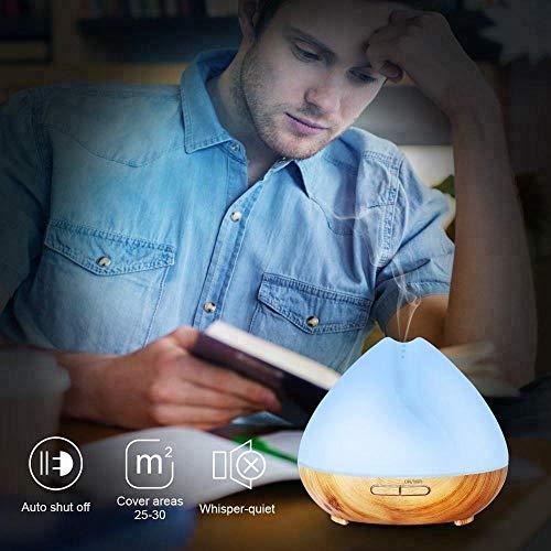 Essential Alexa Echo/Google Assistant/APP Control Smart Perfume Essential Diffuser APP /400ml Wood Grain ultrasonic Cool Mist