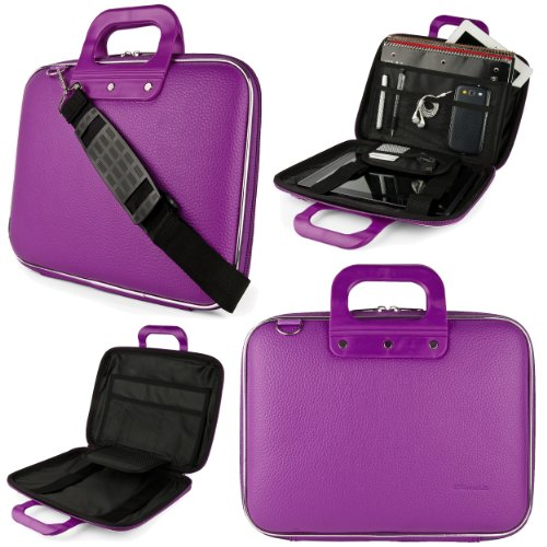 SumacLife Cady HP Spectre x2 12 12-inch Laptop and Tablet Briefcase Bag (Purple)