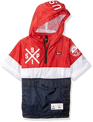 f39e5ccca6 Southpole Boys   Big Anorak Colorblock Water Resistance Hooded Pullover