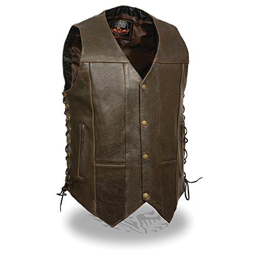 Milwaukee Men's Classic 4 10-Pocket Vest (Retro Brown, Size ()