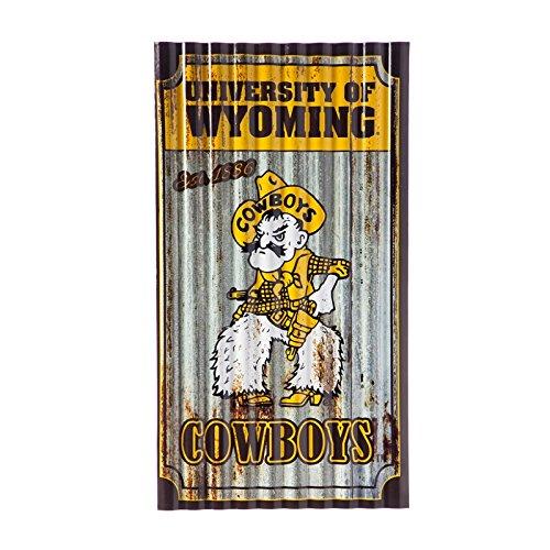 Team Sports America University of WyomingCorrugated Metal Wall Art