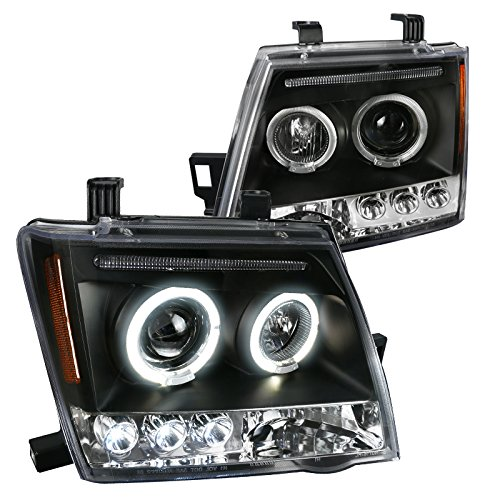 (Spec-D Tuning 2LHP-XTE05JM-TM Black Projector Headlight (Halo Led))