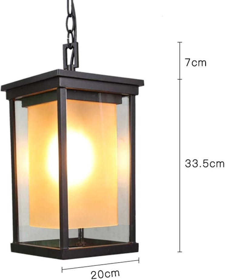 Lámpara Colgante Retro Negra Exterior/Interior De Aluminio Y ...