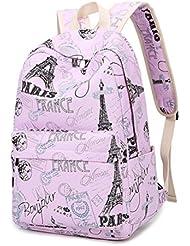 Casual Canvas Backpack for Teen Girls Shoulder School Bag Bookbags for Girls