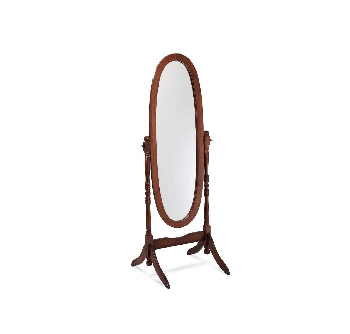 Daisy Days Full Length Cheval Floor Mirror Wooden Standing Dressing Free Swivel Brown