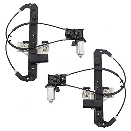 Power Window Lift Regulators with Motors Driver and Passenger Rear Replacements for Chevrolet Tahoe Cadillac Escalade GMC Yukon SUV 19260050 19260051