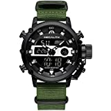 MEGALITH Mens Sports Watches Black Military...